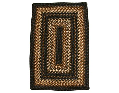 Rectangular Braided Area Rugs Homespice Decor Jute Braided Rectangular Black Area Rug