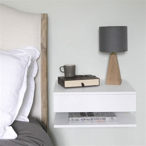 bedside shelves floating bedside table with drawer and shelf by urbansize