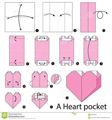 How To Make An Origami Pocket - step by step how to make origami a