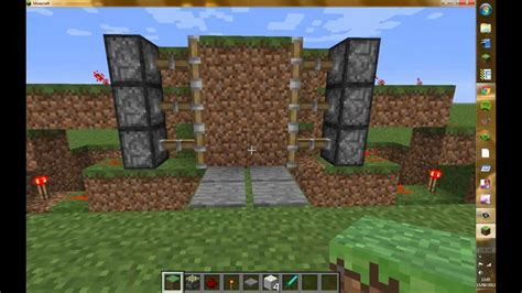 Minecraft Sticky Piston Door by How To Build A Pressure Plate Activated Sticky Piston