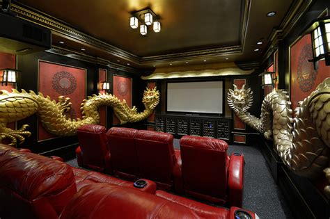 Chinese Themed Bedroom asian theme custom theater room asian home theater
