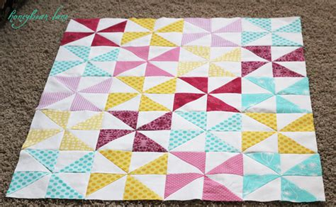 How To Quilt How To Make A Pinwheel Quilt Honeybear