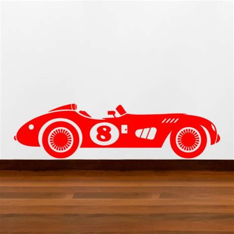 Sticker Racing Boy vintage racing car vehicle boys wall sticker vinyl decal stickers ebay baby room