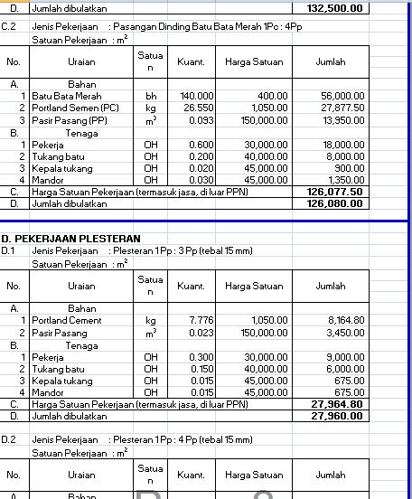 Analisa Satuan Lu Taman yandi s perhitungan volume rab gapura