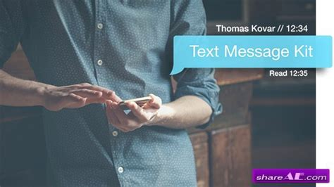 Videohive Text Message Kit V2 2 After Effects Templates 187 Free After Effects Templates After Text Message After Effects Template