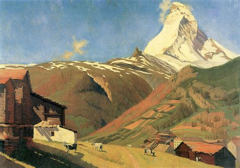 Paintings For Home Decor View Of Zermatt Painting By Felix Vallotton