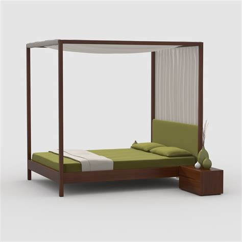 canopy bed wood canopy bed cherry wood max