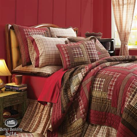 country rustic log cabin cal king quilt