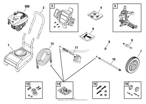 craftsman pressure washer parts diagram craftsman pressure washer 580 750901 parts diagram and