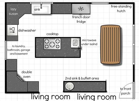 floor plans with open kitchen to the living room 18 best kitchen floor plans images on pinterest