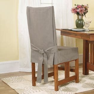 linen dining room chair slipcovers sure fit duck linen short dining room chair slipcover