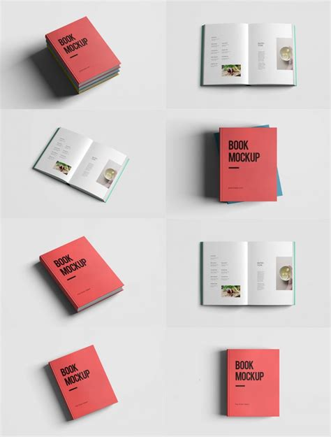 download realistic book mockup template pack free psd at