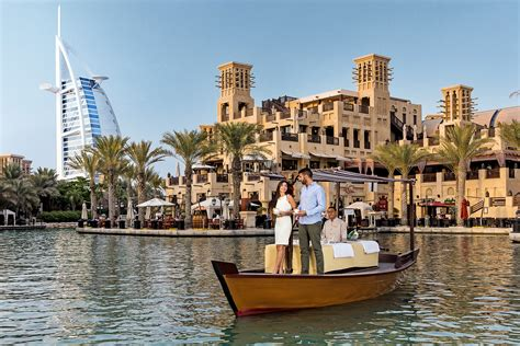 madinat jumeirah boat ride it is happening in the uae yes it is high tea on a