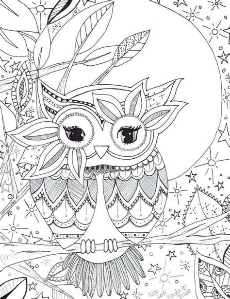1000 images about 214 adult colouring owls birds
