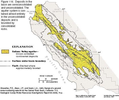 salinas river california map salinas california map