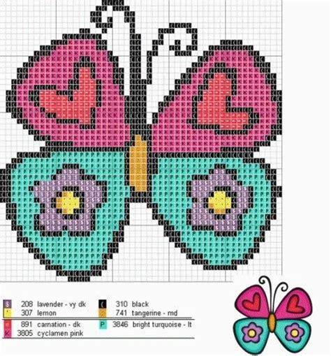 punto de cruz imagenes esquemas graficos y patrones flores y mariposas en punto de cruz imagui
