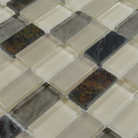 Stone Glass Mosaic TileSsmoky Mountain Straight Joint With