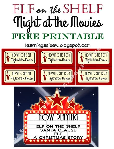 elf on the shelf printable resources 25 b 228 sta book movie tickets id 233 erna p 229 pinterest