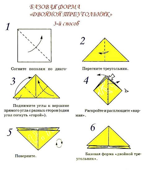 Origami Forms - basic form of quot triangle quot schemes of origami from