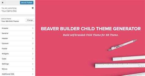 theme support generator beaver builder child theme generator