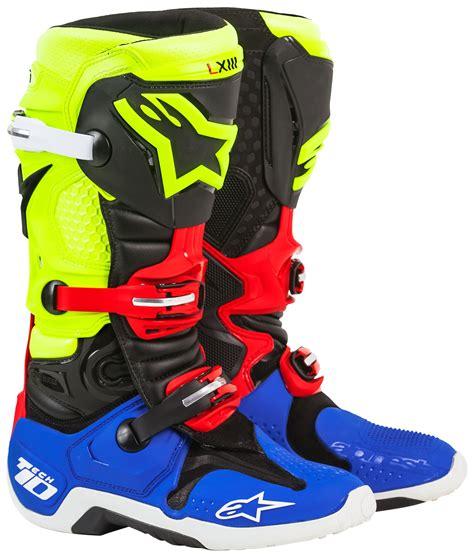 yellow motocross boots alpinestars tech 10 anaheim 1 se boots revzilla