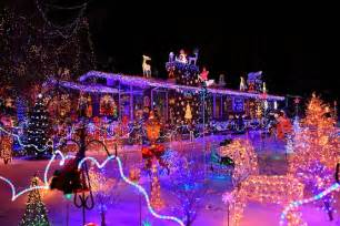 Two story house lighting decor and front door christmas lights