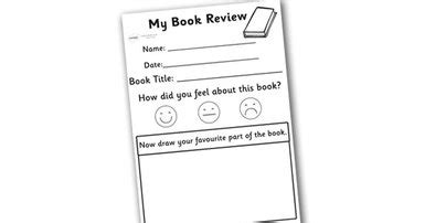 book template ks1 school book review