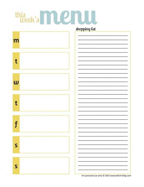 free printable grocery list and meal planner kreativ tagebuch