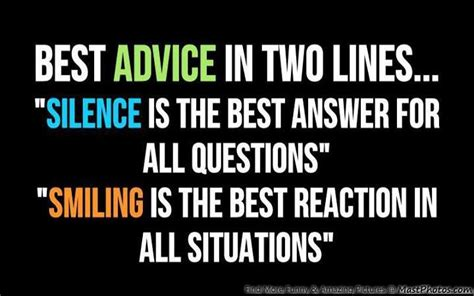 Best Line by Best Advice In Two Lines