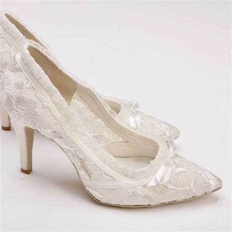 Spitze Brautschuhe by Ivory Lace Wedding Shoes Lace Bridal Shoes House Of Elliot