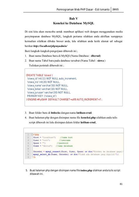modul membuat website dengan php pdf modul web programming dengan php dan mysql