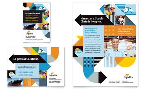 brochure template logistics logistics warehousing flyer ad template design