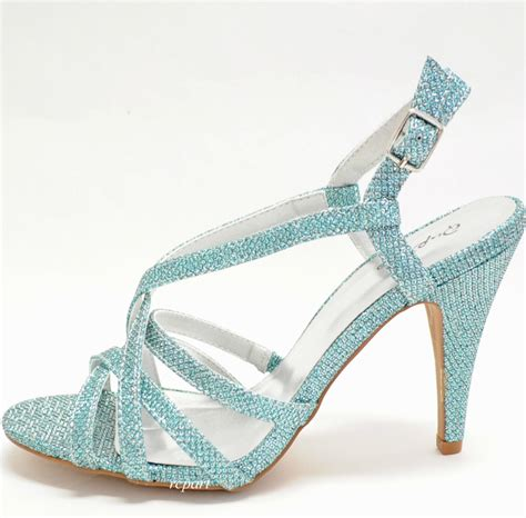 light blue strappy heels blue sandals pale blue evening sandals