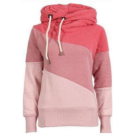Matching Color Block Hoodie watermelon color block sleeve chic hooded sweatshirt
