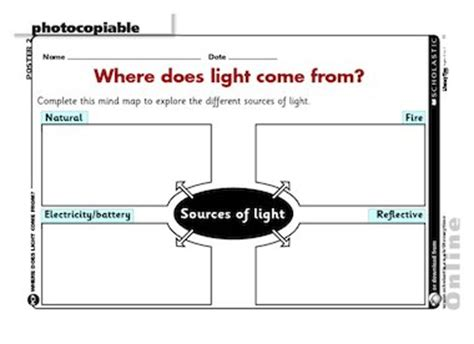 where does light come from free primary ks1 teaching