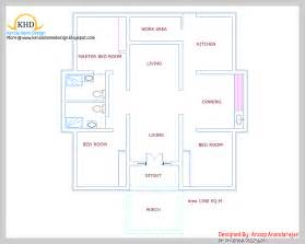 Single Floor Home Plans by Single Floor House Plan And Elevation 1390 Sq Ft