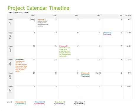 project calendar template 10 calendar timeline templates free word ppt format