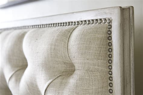 Lexington Home Brands Sag Harbor Tufted Upholstered Bed Tufted Upholstered Headboard With Nailheads