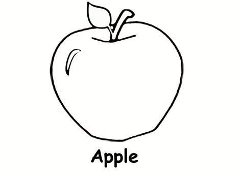 apple coloring pages preschool preschool apple coloring pages tree page funny