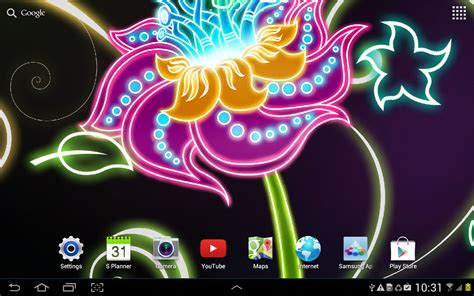 wallpaper hd android neon neon flowers live wallpaper hd android apps on google play