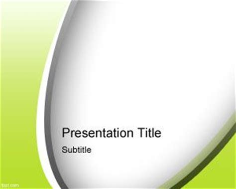 template photoshop presentation free green abstract curves powerpoint template
