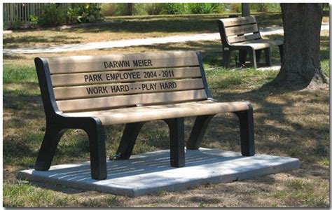 in memory benches tri township park memorial information