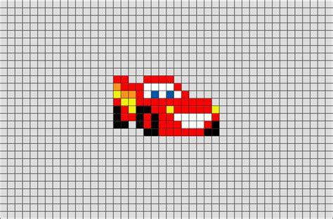 pixel art car lightning mcqueen pixel art brik