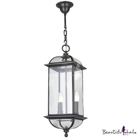 Pewter Outdoor Lighting 2 Light Pewter Outdoor Pendant Lighting With Clear Glass Shade Beautifulhalo