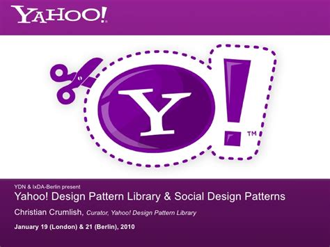 design pattern yahoo yahoo pattern library social design patterns