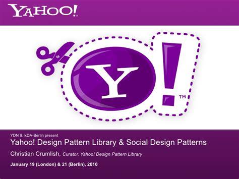 yahoo design pattern library stencils yahoo pattern library social design patterns