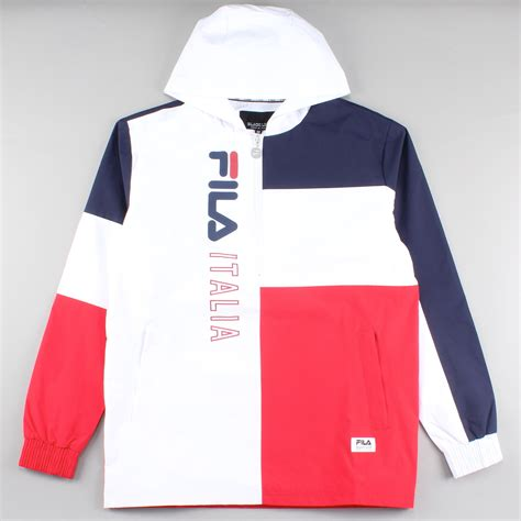 Kaos Filatshirtpakaian Filat Shirt fila jacket biella zip white navy le fix