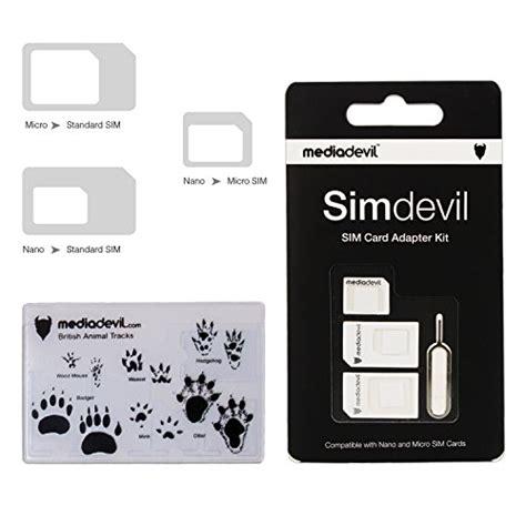 T Sim Card Adapter 3 In 1 Micro Nano Mini mediadevil simdevil 3 in 1 sim card adapter kit nano