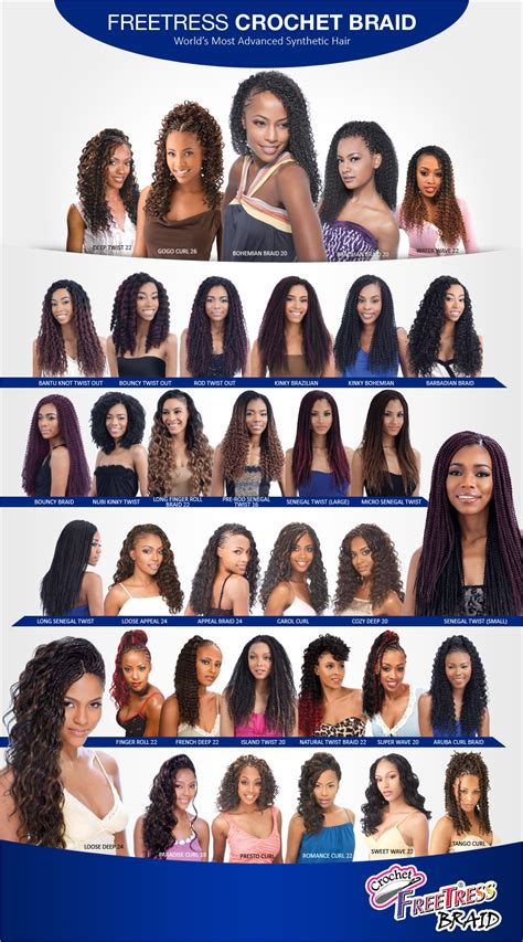 types of freetress braid hair different types of crochet braid hair
