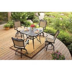 High Patio Table Set Better Homes And Gardens Paxton Place 5 High Patio Dining Set Seats 4 1113016442445